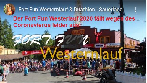Der Fort Fun Westernlauf 2020 fällt wegen des Coronavierus leider aus!